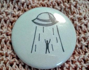 Alien Abduction Pinback Button