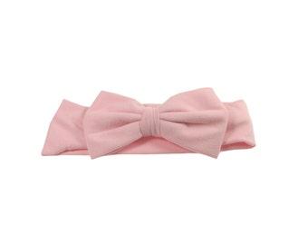 Pink Baby Headband  Soft Cotton