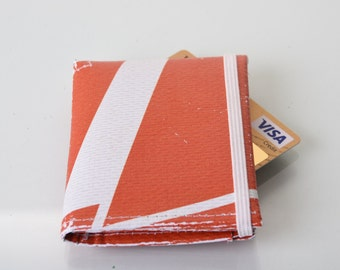 Orange Trifold Wallet repurposed  from london 2012 Olympic banner
