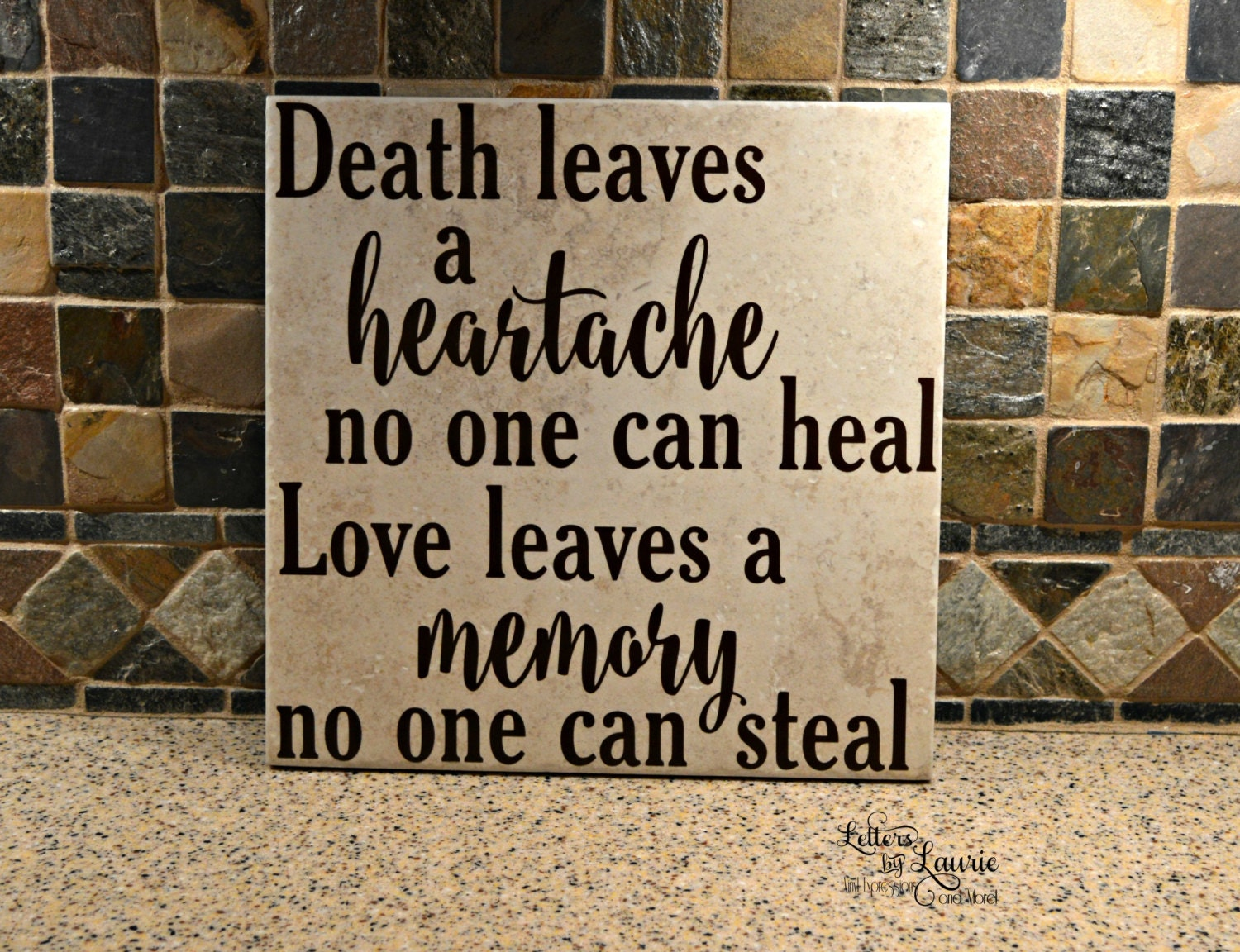 In Loving Memory Gift Death Leaves a Heartache no one can
