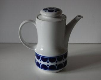 Coffee pot Tea pot Bavaria Schumann Arzberg Geramany echt cobalt Inglasur