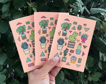 Small Notebook Set, Cactus Stationery, Pocket Journal Set