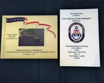 USS Samuel Eliot Morison FFG-13 Commissioning Ceremony 1980 & 2002 Decommissioning Ceremony Pamphlet Books