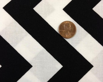 Half Moon Modern for Moda Half Yard Cut and Yardage Available Black White Chevron  32349 12