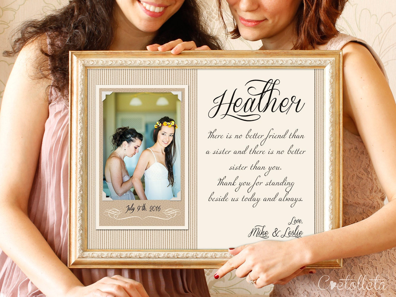 Wedding Gifts For Sisters: Sister Wedding Gift Bridesmaid Gift Sisters Wedding Gift
