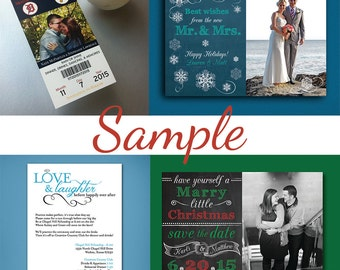 Card Sample • Sample •  Save the Date Card Sample • Christmas Card sample • Rehearsal Invitation Card Sample