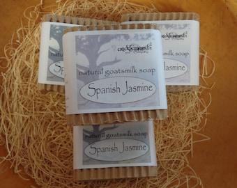 Spanish Jasmine  fragranced Natural Goatsmilk Soap