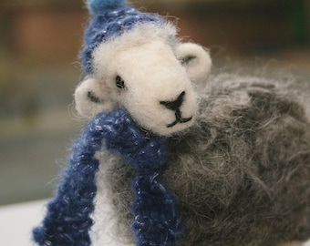 Needle Felted Herdwick Sheep Sculpture - Mother's Day/Valentine's Gift