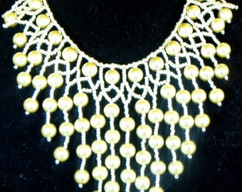 Pearl Bib Necklace