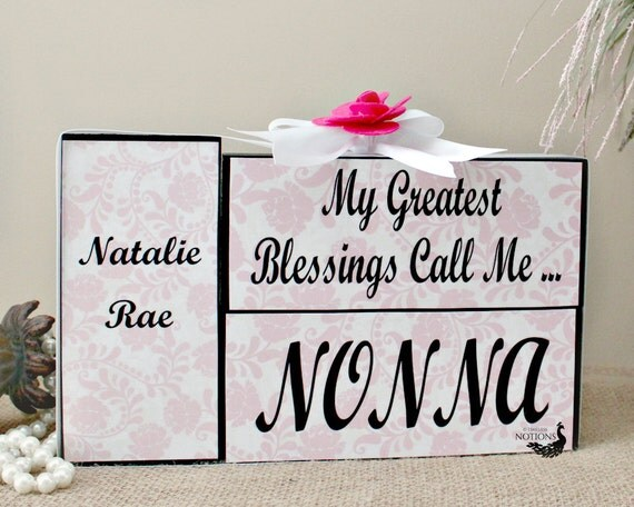 Nonna Wood Blocks Gifts For Her Mothers Day By Timelessnotion