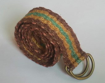 Eco Friendly Multicolor Pure Hemp Belt
