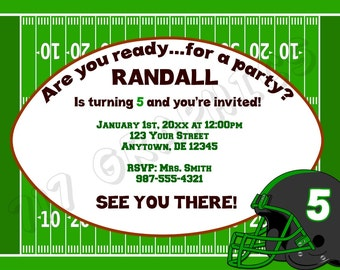 Football Birthday Invitation - Printable
