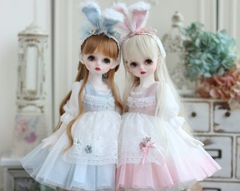 Nigo-bjd-clothes={ Mint & Black Tea Rabbit }= for Holiday Child / MSD