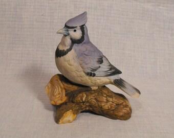 Vintage Blue Jay Bird  Porcelain  Figurine  Noritake - Vertrieb Japan Exclusive Design..