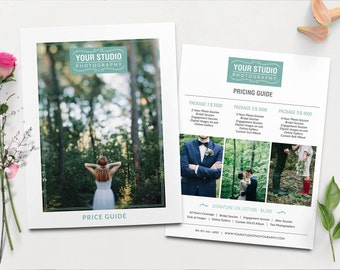 Photography pricing template - Wedding Pricing Guide Template - Pricing guide Photoshop template Instant Download   PG012