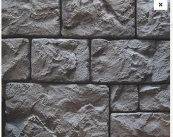 Stone Wall Veneers DIY Concrete Molds Forms 9 Piece Castle Blocks