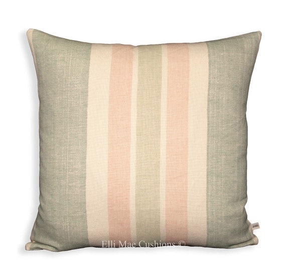 Kathryn ireland moroccan stripe designer fabric duck egg sofa for Sofa cushion covers ireland