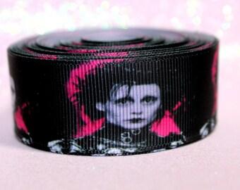 "1"" Edward Scissorhands Ribbon - Edward Scissorhands - Tim Burton - Movie Ribbon - Classic - Ribbon by the yard"
