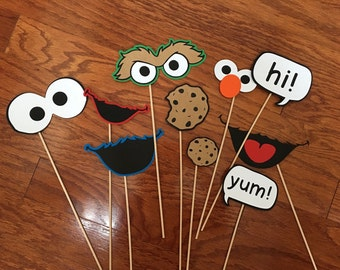 Sesame Street photo booth props! Fun for your next theme party! (set of 11!)