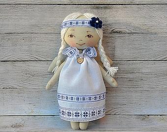small dolls,textile Angel,Ukrainian talisman, Angel  textile doll  ,Rag doll handmade