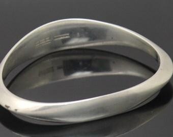 "DAVID ANDERSEN NORWAY Bjorn S. Ostern 1960s Modernist Solid Sterling Silver 7.5"" Bangle Bracelet"