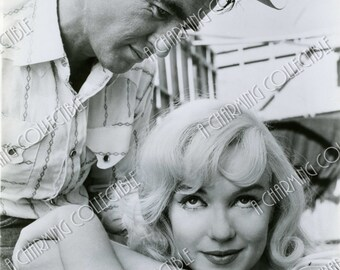 "MARILYN MONROE & Montgomery Clift 5x7, 8x10 or 11x14 ""The Misfits"" 1961 Photo Print Vintage Hollywood Classic Actress 1950's Portrait"