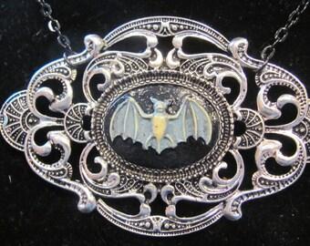 Blue Bat Old Victorian Necklace