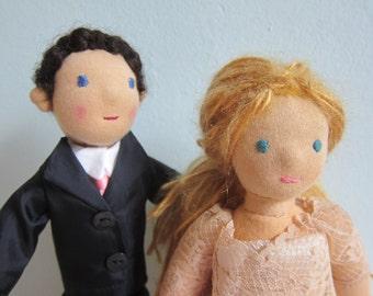 Wedding dolls, Nuptial dolls, Wedding couple, Mr. and Mrs. Nuptial, 10.5 in, Wedding couple dolls, Bridal shower,