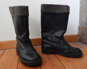 Vintage Finnish leather army boots, size 41, Oil & Petrol resistance