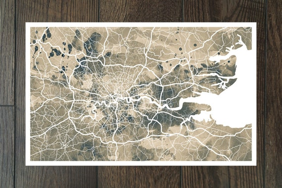 London Map- Giclee Print