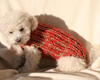 Dog Sweater with Collar. Pet clothing. Dog Jacket. Dog Top. Dog Shirt. Dog Outfit