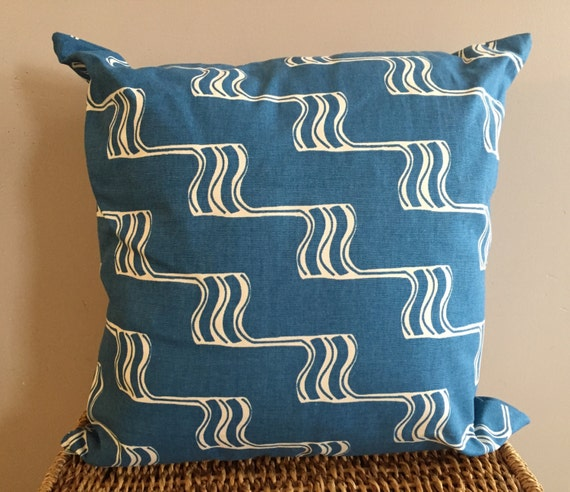Organic Cotton Throw Pillow Inserts : Blue Organic Throw Pillow Insert Accent by ShopJosiSeverson