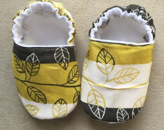 Fall leaf baby booties, crib shoes, infant, slippers, season, cute