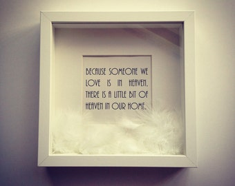 Memory Frame|| Love|| Personalised|| Memory|| White Feather||