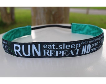 Running headband 7/8 inches wide non slip