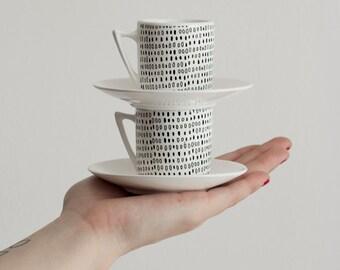 Handmade Ceramic Mini Dots Mug Set