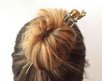 Fox Hair Pin