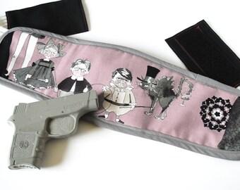 Gun holster for women, Bra Holster, Concealed carry women, Boob Buddy Holster - The Ghastlies Mauve