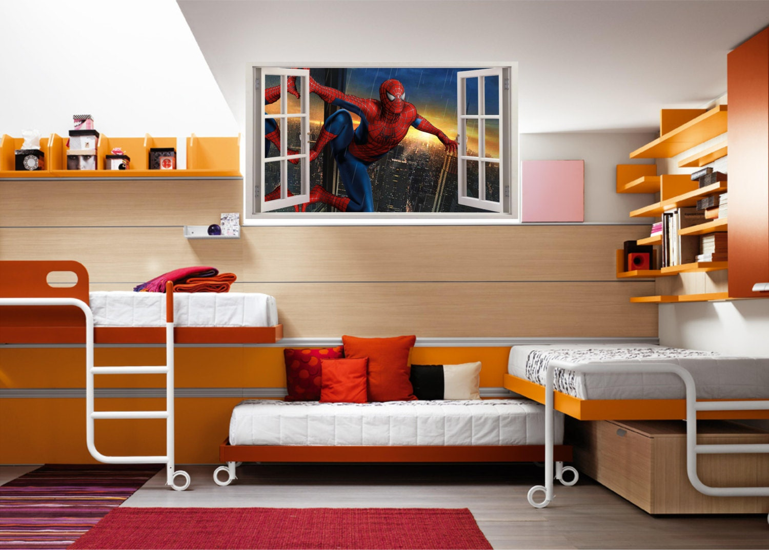 spiderman peel and stick wall decals funkthishouse com funk spiderman smashed through wall decal by lizashopco spiderman window wall decal by wallvinylconnection