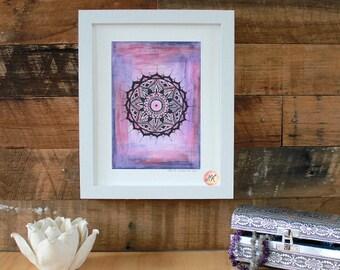 Crown Chakra Mandala, Giclee Fine Art Print