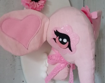 """Pink Baby Elephant """"READY TO SHIP"""""""