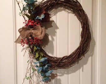 Red Robin grapevine wreath