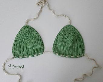 Evergreen Crochet Bikini Top