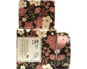 Washi Tape 10m Cherry Blossom Black SM212131