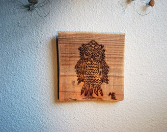 Up Cycled Pallet Owl Wall Art