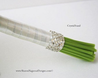 Bouquet handle, ribbon, WRAP STYLES, Real Touch Flowers, bouquets, wedding flowers, PACKAGES, corsages, boutonnieres/buttonholes