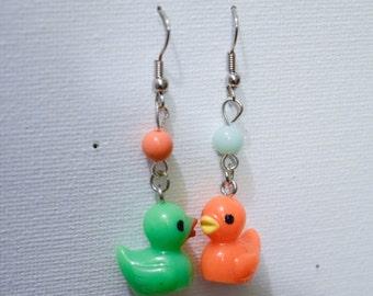 Earrings 'Duck' motley