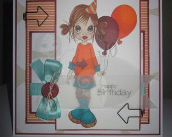 OOAK Saturated Canary - Ellie's Birthday Handmade Card
