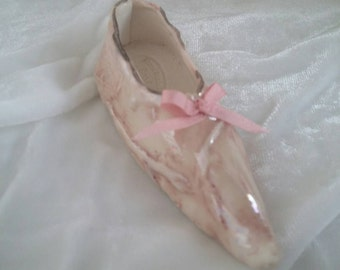 Pink porcelain fairy shoe / slipper