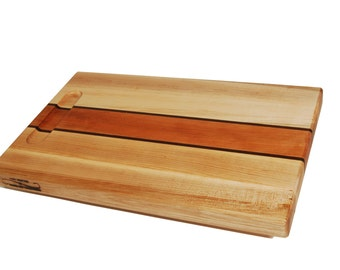 Cherry Stripe - Maple Cutting Board with Cherry and Walnut Stripe